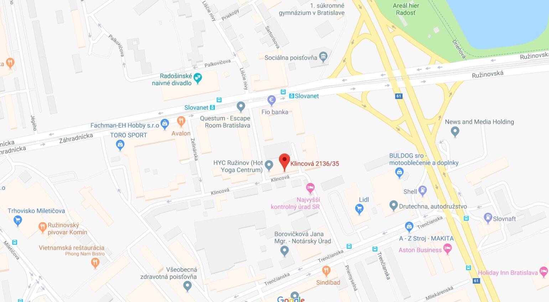 klincova - virtualna adresa pre firmy v bratislave